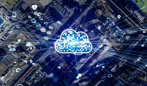 Cloud,Computing,And,Industry,Concept.,Industrial,Technology.,Industry,4.0.,Communication
